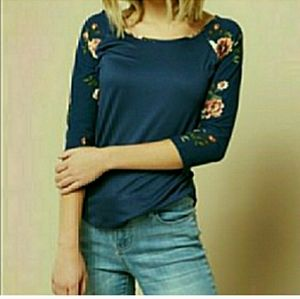 FLORAL SLEEVE BASEBALL TEE FROM RUE21